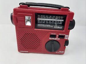 Grundig LL Bean FR-200 Manual Crank Battery Worldwide FM/AM/SW Emergency Radio