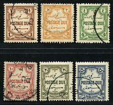 Jordan Transjordan 1929 Postage Due Complete Set SG D189-194 Fine Used £85