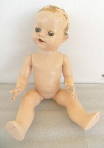 Vintage 14in / 36cm  H P  English Pedigree doll.