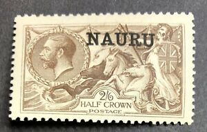 Nauru 1916 George V SG20 2s 6d 2/6 yellow-brown (De La Rue) MLH.