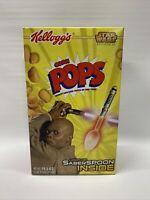 SEALED Kellogg's Star Wars Corn Pops Cereal Box W/ Light Saber Spoon Prize FULL