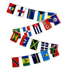 30ft String Flag Set of 20 Caribbean Country 12x18 Bunting Flag Banner Flags