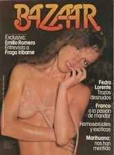 BAZAR SPANISH MAGAZINE 1978 EVA IONESCO / FREDA LORENTE