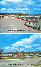 Niagara Falls NY Sunny Acres Mobile Home Sales Duo-View Postcard