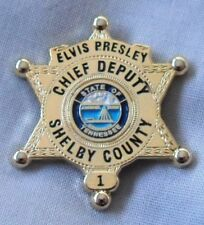 Elvis Presley Chief Deputy Shelby County State Of Tennessee Sheriff's badge. TCB