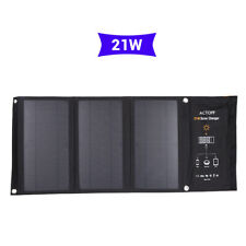 Portable Foldable 21W 5V Solar Charger with Dual USB Port for iPhone HTC Samsung