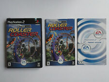 NO GAME- PS2 ROLLER COASTER -  CASE & MANUAL ONLY - NO GAME