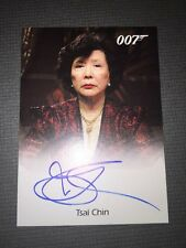 James Bond In Motion Authentic Autograph Card Of Tsai Chin As Madame Wu.