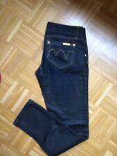 MET Jeans 31 Dunkle Waschung Denim Crop Straight Gerade Blau Dunkelblau