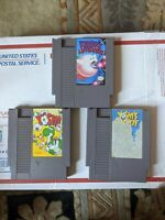 NES Game Lot Untested  Kirby Adventure,Yoshi,Yoshi Cookie  Not Tested