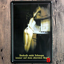 Retro Metal Sexy Girl Painting Metal Tin Signs Sexy Poster Cafe Bar Pub Decor