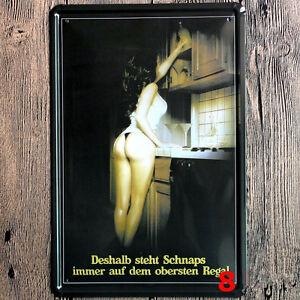 Retro Metal Sexy Girl Painting Metal Tin Signs Sexy Poster Cafe Bar Pub Decor