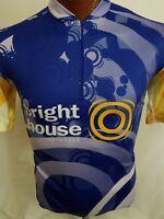 Vomax Bright House Networks Men's Cycling Jersey 1/3 Zip MS Bike Ride 3 Pocket L