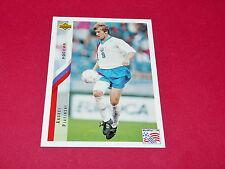 ANDREI PIATINSKI RUSSIE FIFA WC FOOTBALL CARD UPPER USA 94 PANINI 1994 WM94