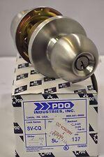 "PDQ Commercial BALL KNOB LOCKSET SV-CQ 137 General Entrance 2 3/4"" Backset 26D"
