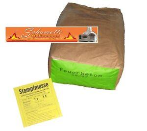 Feuerbeton 25 kg-Sack Stampfmasse Hochfeuerfester Schamottebeton vom Ofenprofi