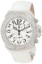 Lancaster Women's Diamond Accented Chronograph Silver Textured Dial Watch