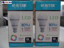 2x RITEK LED Bayonet 10W=40W White Light Globes Energy Saving longlife 30000hrs