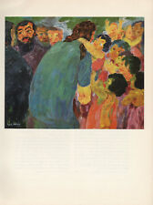 "1959 Vintage EMIL NOLDE ""CHRIST and the CHILDREN"" LOVELY COLOR Offset Lithograph"