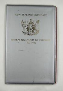 New Zealand coins set of 7 pieces 1983 UNC, Original Album