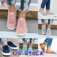 Fashion Flats Athletic Sneakers Women Gift Casual Ladies Slip On Pumps Shoes US