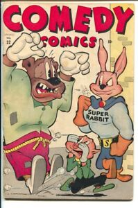 Comedy #32 1946-Timely-Funny Animals Super Rabbit cover-Widjit Witch-P