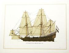 DUTCH SHIP PINNACE 1650, SAILING THROUGH THE CENTURIES, #8 LITHOGRAPH, MACFIE