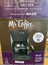 Mr. Coffee DR5 4-Cup Coffeemaker Black