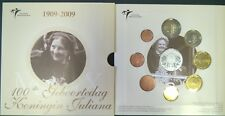 Themaset 100ste geboortedag koningin Juliana 1909 - 2009 zilveren penning .925
