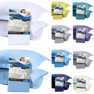 400 Thread Count Housewife Cotton Pillow Cases OR Oxford Pillowcases Pack of 2
