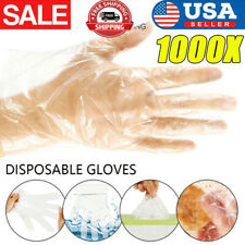 New listing 1000Pcs Food Service Gloves Home Plastic Clear Pe Safety Work Sanitary Gloves