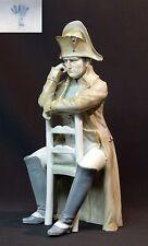 rare grand sujet Porcelaine fine capodimonté Napoléon Bonaparte assis 1.4kg33c