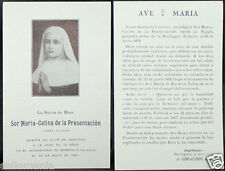 OLD BLESSED SOR MARIA CELINA PRESENTACION HOLY CARD YEAR 1926  ESTAMPA   CC1025