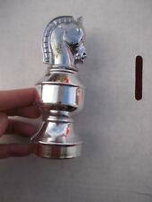 Vintage Avon Chess Piece Knight Horse head All Silver Chrome looking Bottle