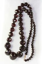 VINTAGE 1900'S ANTIQUE FACETED CHERRY AMBER NOT BAKELITE