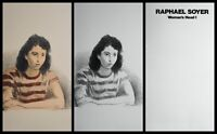 Raphael Soyer Woman's Head Portfolio Hand Signed/Num 2 Lithograph Social Realist