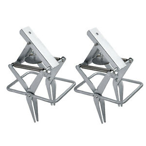 Galvanized Steel Sturdy Large-Sized Mole and Gopher Scissor-jaw Trap Mice 2 PACK