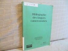 bibliographie des langues camerounaises par Barreteau Ngantchui Cameroun