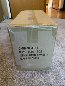 2000 CARDBOARD GOLD Card Saver 1 = 1 Case = 10 Boxes x 200 Holders for PSA subs