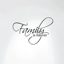 Family Is Forever Vinyl Wall Decal Art Saying Home Decor Sticker 20