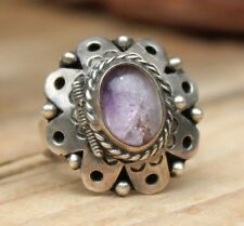 Vintage Poison Locket Ring Amethyst Sterling Silver Mexican Adj. Size Jewellery