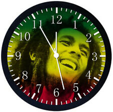 Bob Marley Black Frame Wall Clock Nice For Decor or Gifts Y49