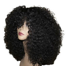 Essence Wigs 100% Indian Remy Human Hair Black Wig Kinky Curly