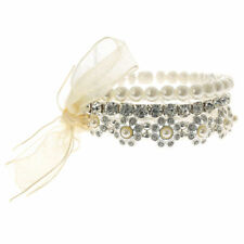 Pearl Stretch Costume Bracelets