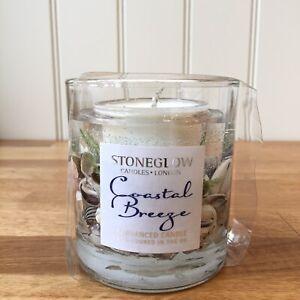 STONEGLOW CANDLES Botanic Collection COASTAL BREEZE Natural Wax Gel Tumbler Gift