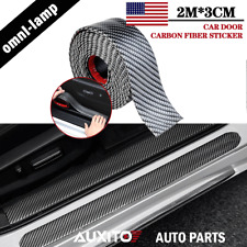 2M Car Sticker Carbon Fiber Rubber DIY Door Sill Protector Edge Guard Strip EOE