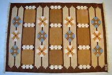 Swedish textile designer. Large hand-woven RÖLLAKAN rug in pure wool