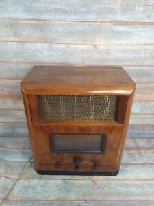 Vintage G.Marconi Valve Radio Gramophone Short Long Medium Wave