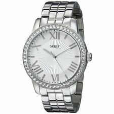 ORIGINAL GUESS Women's U0329L1 Crystal-Accented Stainless Steel Watch Brand new