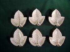 Occupied Japan Leaf Shaped Trinket Dishes Ceramic Gold Trim 1940's